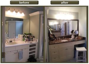 Terri Wylie - Before-After bathroom